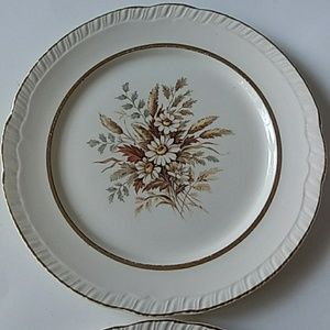 Limoges Dining - LIMOGES SUNDALE FLORAL 22K GOLD PLATES SET OF 2